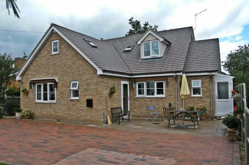 Detached chalet style home on Mill Lane, Little Paxton