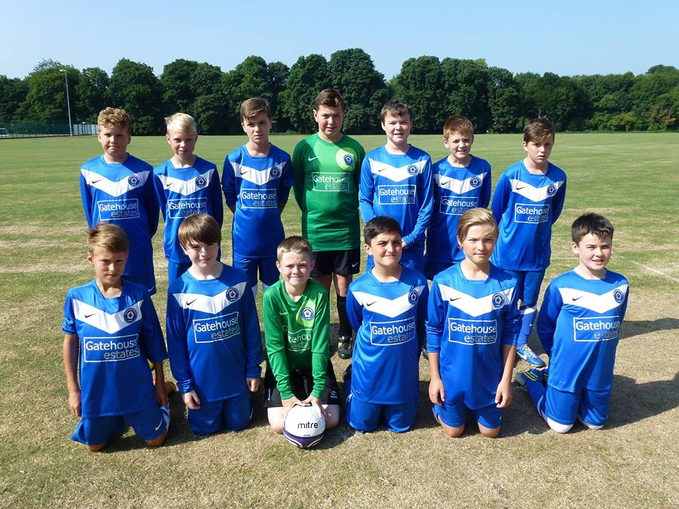 Godmanchester Rovers U12 Football Club in their new Gatehouse Estates 2013 shirts