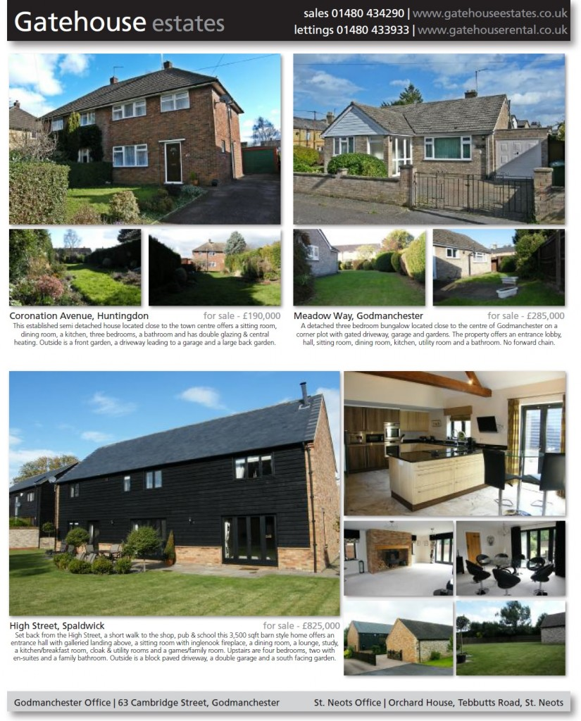 Hunts Post advert from Gatehouse Estates