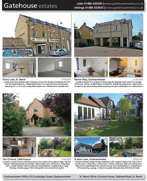 Hunts Post property advert from Gatehouse Estates