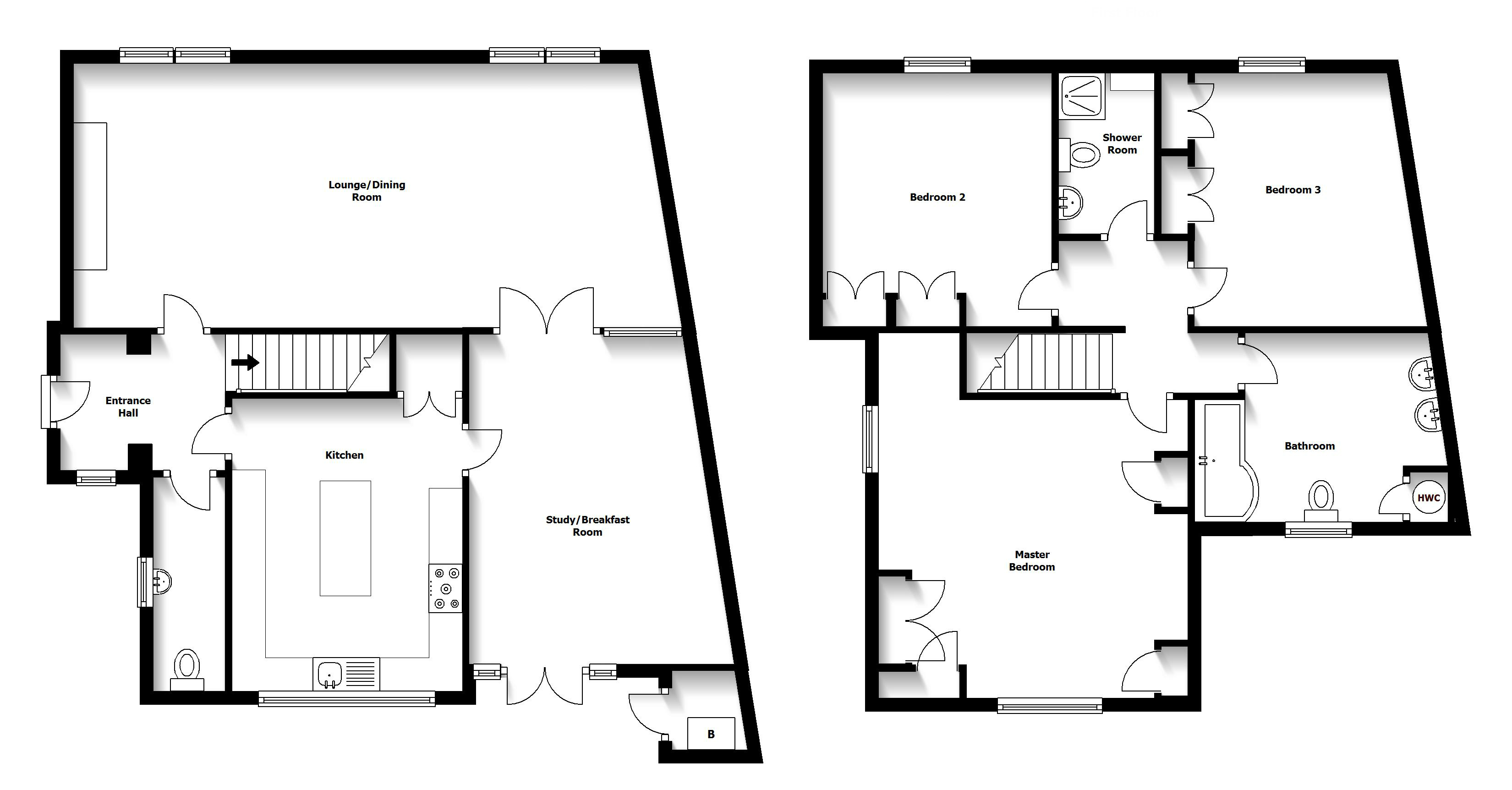 Detached house with self contained annexe gatehouse estates for Self contained house plans